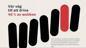Skärmdump från början av sidan om Vär väg till att driva 40 % av webben